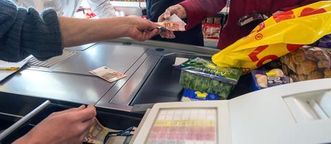 Geld Kasse Supermarkt Sujet