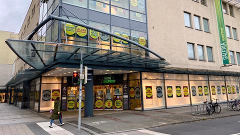 Die Fassade von Galeria Kaufhof in Fulda