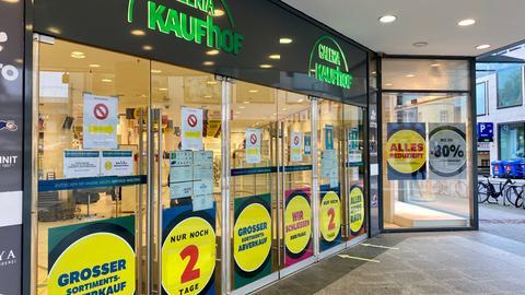 Ausverkauf bei Galeria Kaufhof in Fulda