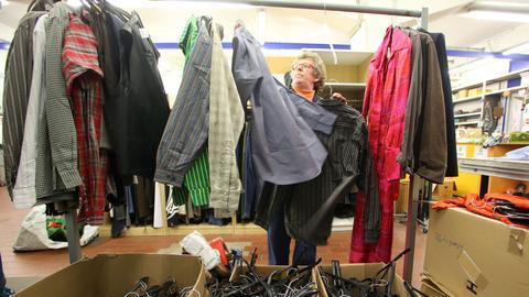 Nur ein Bruchteil der Altkleider landet in der Kleiderkammer