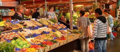 Blick in die Kleinmarkthalle