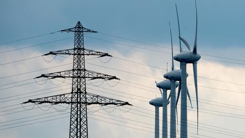 Windräder und Stromnetz