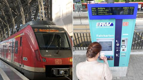 RMV Kombo Bahn/ Fahrkartenautomat