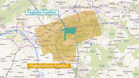 Grafik Kontrollzone Flughafen Frankfurt