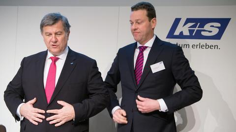 Burkhard Lohr (r.) rückt an die Stelle von  K+S-Vorstandschef Norbert Steiner