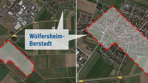 Lageplan Logistikzentrum Wölfersheim