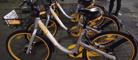 Obike-Leihräder in Frankfurt