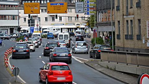 Die Schiede-Kreuzung in Limburg