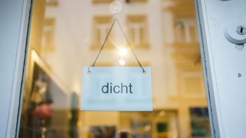 Gecshlossene Galerie in Frankfurt