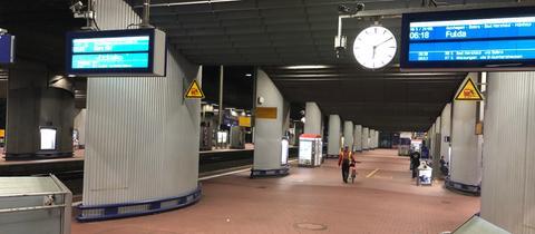 Leerer Bahnhof Wilhelmshöhe
