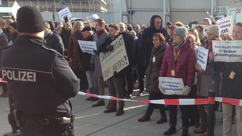 Protest bei Lufthansa