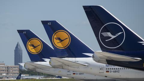 Drei Lufthansa-Maschinen