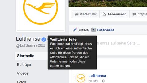 Screenshot Lufthansa-Logo bei Facebook