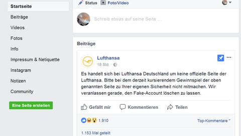 Lufthansa Warnung