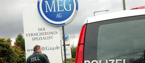 Ermittlungen im Jahr 2007 am ehemaligen MEG-Sitz in Kassel