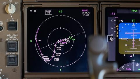 Das neue Navigationssystem auf dem Cockpit-Bildschirm