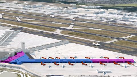 So hat Fraport den neuen Flugsteig G in Frankfurt geplant.