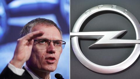 Tavares und Opel-Logo
