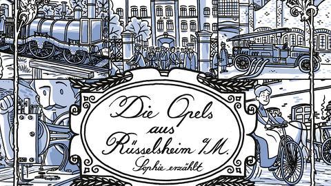 Ausschnitt aus dem Opel-Comic von Martin Stark: Eine erfinderische Familie: die Opels aus Rüsselsheim.