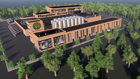 Simulation des Neubaus für die Pfungstädter Brauerei