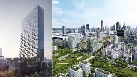 Der geplante Turm und sein Standort.