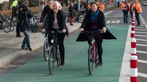 baulich getrennter Radfahrstreifen in Berlin