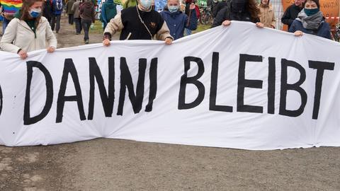Protest gegen die A49 am Dannenröder Forst