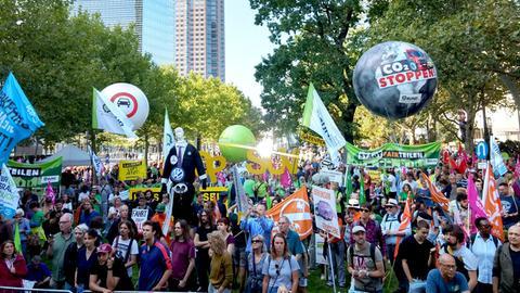 Der Anti-IAA-Protestzug vor der Abschlussveranstaltung