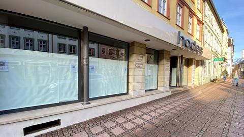 Verhängte Schaufenster von Einzelhändlern in Fulda