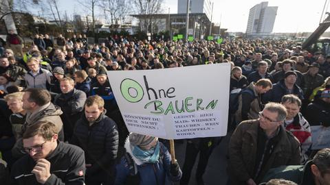 Proteste in Wiesbaden