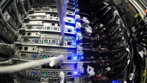 Server in einem Rechenzentrum.