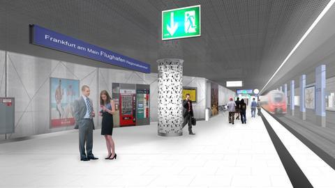 Grafik zeigt künftigen Bahnhof