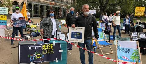 Reisebüro Protest Corona