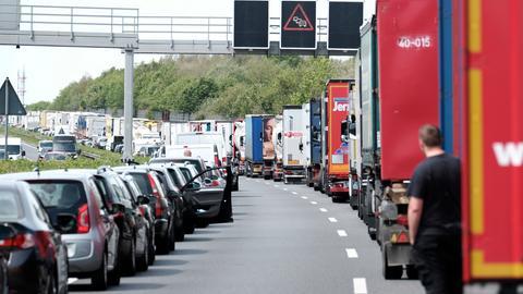 Rettungsgasse Autobahn