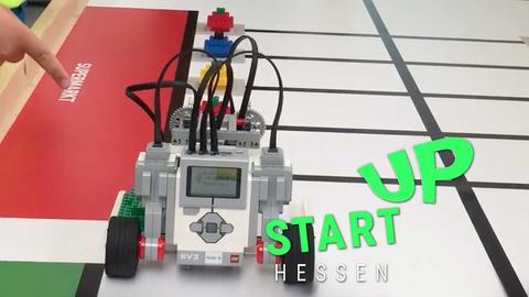 Robo Studio und ihre Erfindung beim Einsatz in einer Schule.