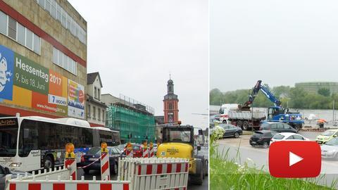 Rüsselsheim Hessentag Bauarbeiten