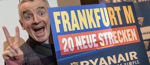 Michael O'Leary, Chef der irischen Fluggesellschaft Ryanair, in Frankfurt.