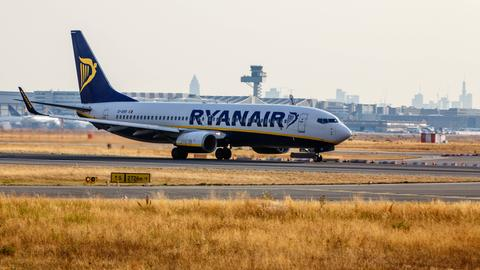 Ryanair-Flieger in Frankfurt