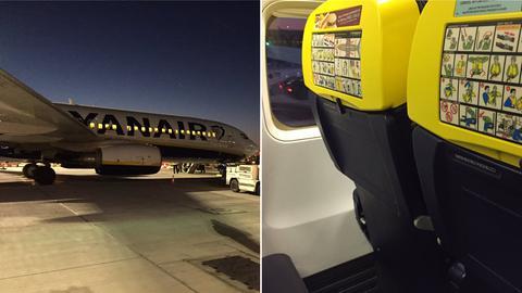 Collage - Flugzeug und Sitze