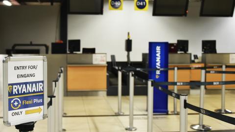 Leerer Ryanair-Schalter