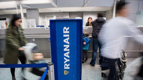 Ryanair-Schalter am Flughafen Frankfurt