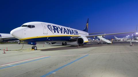 Ryanair landet auffällig oft nach 23 Uhr in Frankfurt.