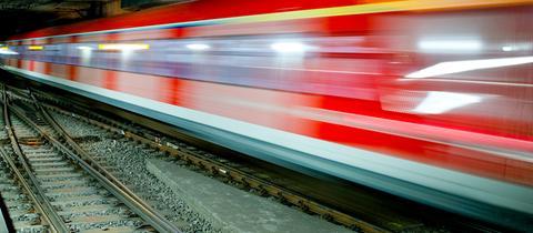 Fahrende S-Bahn
