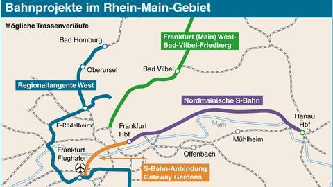 S-Bahn-Projekte im Rhein-Main-Gebiet