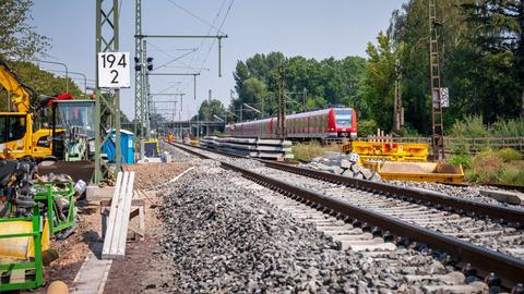 S6-Ausbau: Neue Gleise zwischen Frankfurt West und Eschersheim