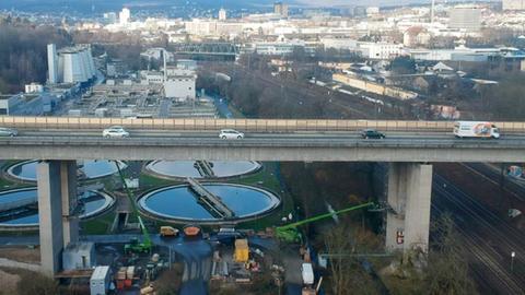Salzbachtalbrücke der A66 bei Wiesbaden