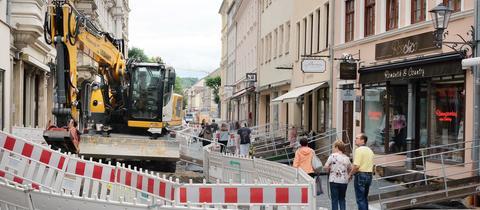 Sanierung einer Straße