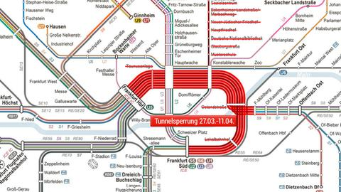 S-Bahn-Tunnel-Sperrung