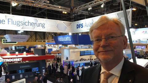 DFS-Geschäftsführer Klaus-Dieter Scheurle auf dem Internationalen Luftsicherheitskongress in Madrid