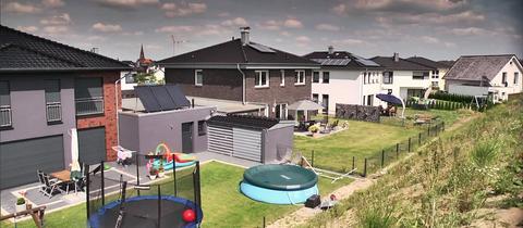 Neubausiedlung in Olfen (Nordrhein-Westfalen)